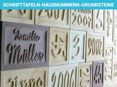 """Foto von """"SCHRIFTTAFELN, GRUNDSTEINE, HAUSNUMMERN"""""""
